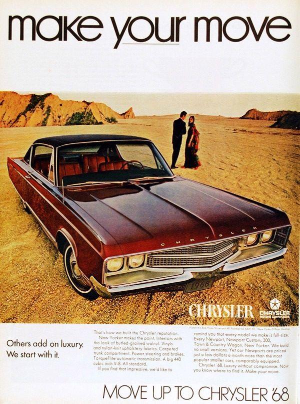 1968 Chrysler New Yorker Two Door Hardtop   Chrysler: 1964 - 1969 ...