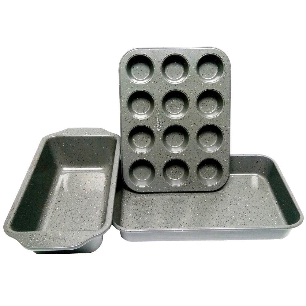 Casaware Casaware 3 Piece Silver Granite Bakeware Set 1 2a02 5k