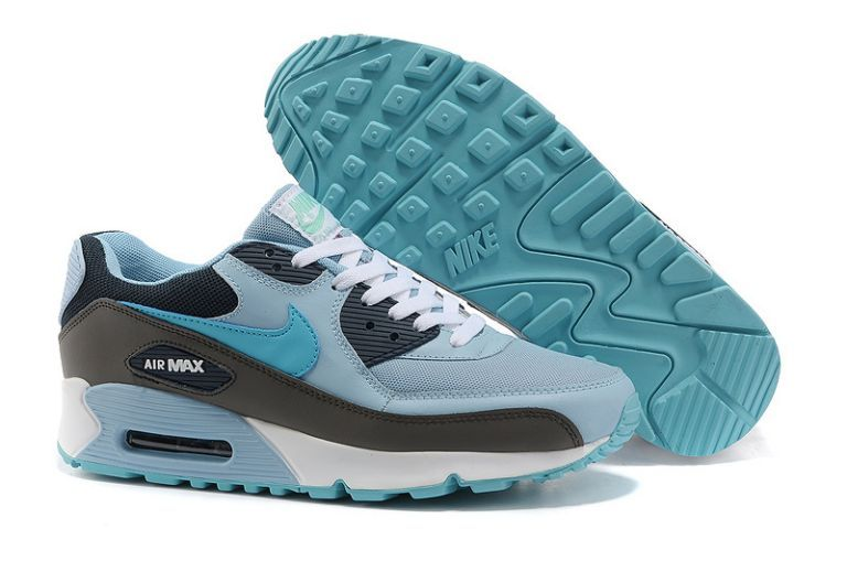 pretty nice 24a54 47c63 Homme Pas Cher Soldes Nike Air Max 90 Essential Light Bleu Obsidian Dark  Gris