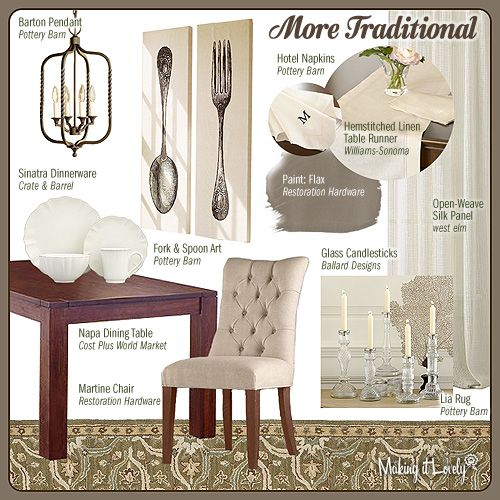 more traditional dining room mood board | house n home | pinterest