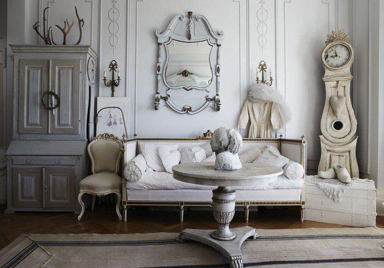 Déco romantique salon en 10 idées au style shabby et plus encore!