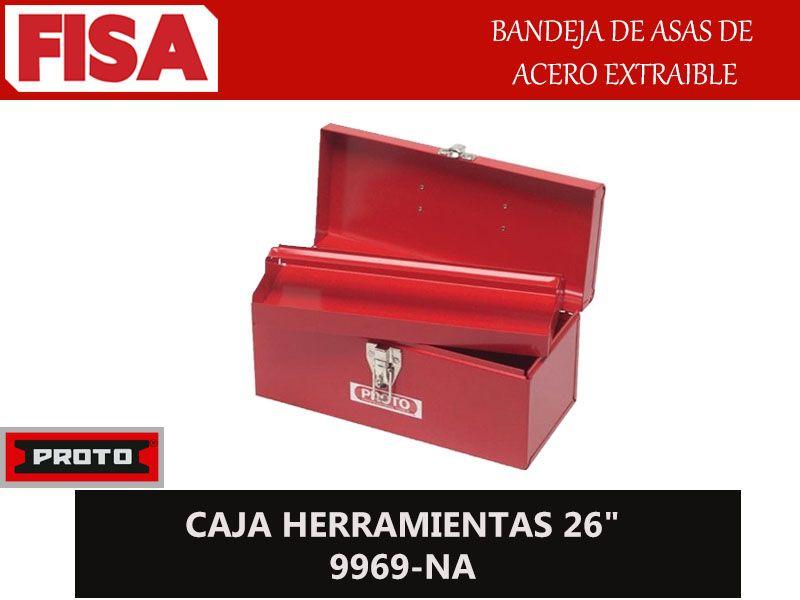 CAJA HERRAMIENTAS 9969-NA. Bandeja de asas acero extraible-  FERRETERIA INDUSTRIAL -FISA S.A.S Carrera 25 # 17 - 64 Teléfono: 201 05 55 www.fisa.com.co/ Twitter:@FISA_Colombia Facebook: Ferreteria Industrial FISA Colombia