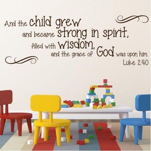 Luke 2:40 religious wall decor images