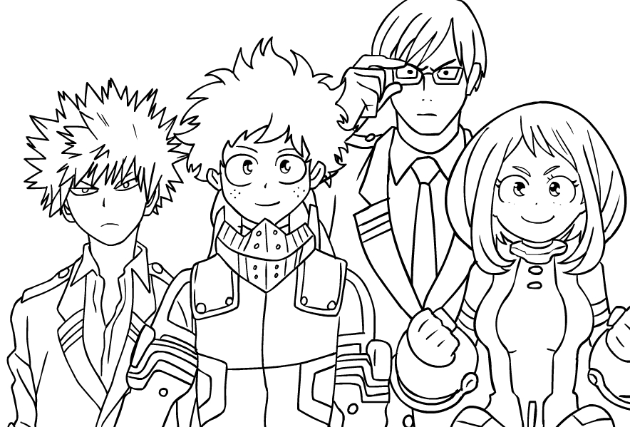 Free My Hero Academia Coloring Pages Wip By Whymeiy Printable For Kids And Adults You Can Download A Manga Coloring Book Mermaid Coloring Pages Coloring Pages