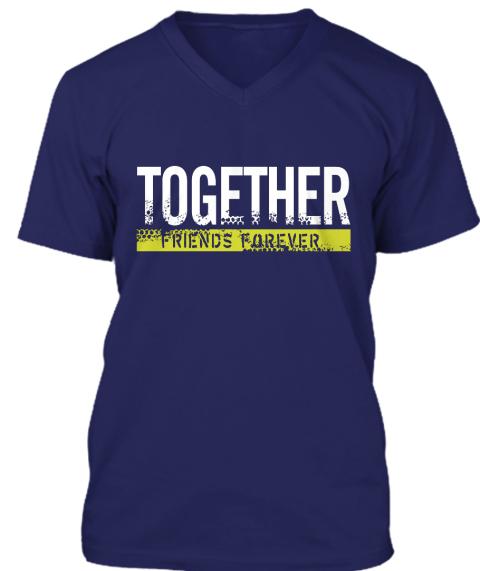 Friends Forever T Shirt 2016 Navy T-Shirt Front
