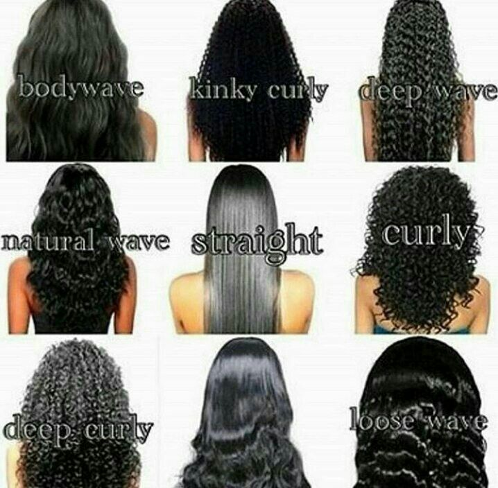 types of curls weave