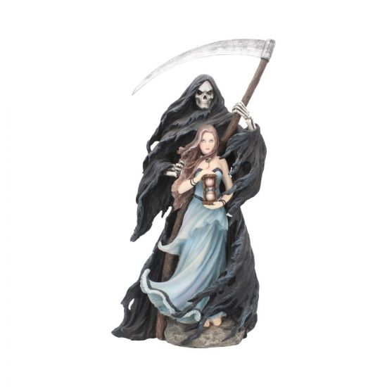Photo of Summon The Reaper – Gothic Figurine By Anne Stokes Woman and Reaper Ornament 30cm