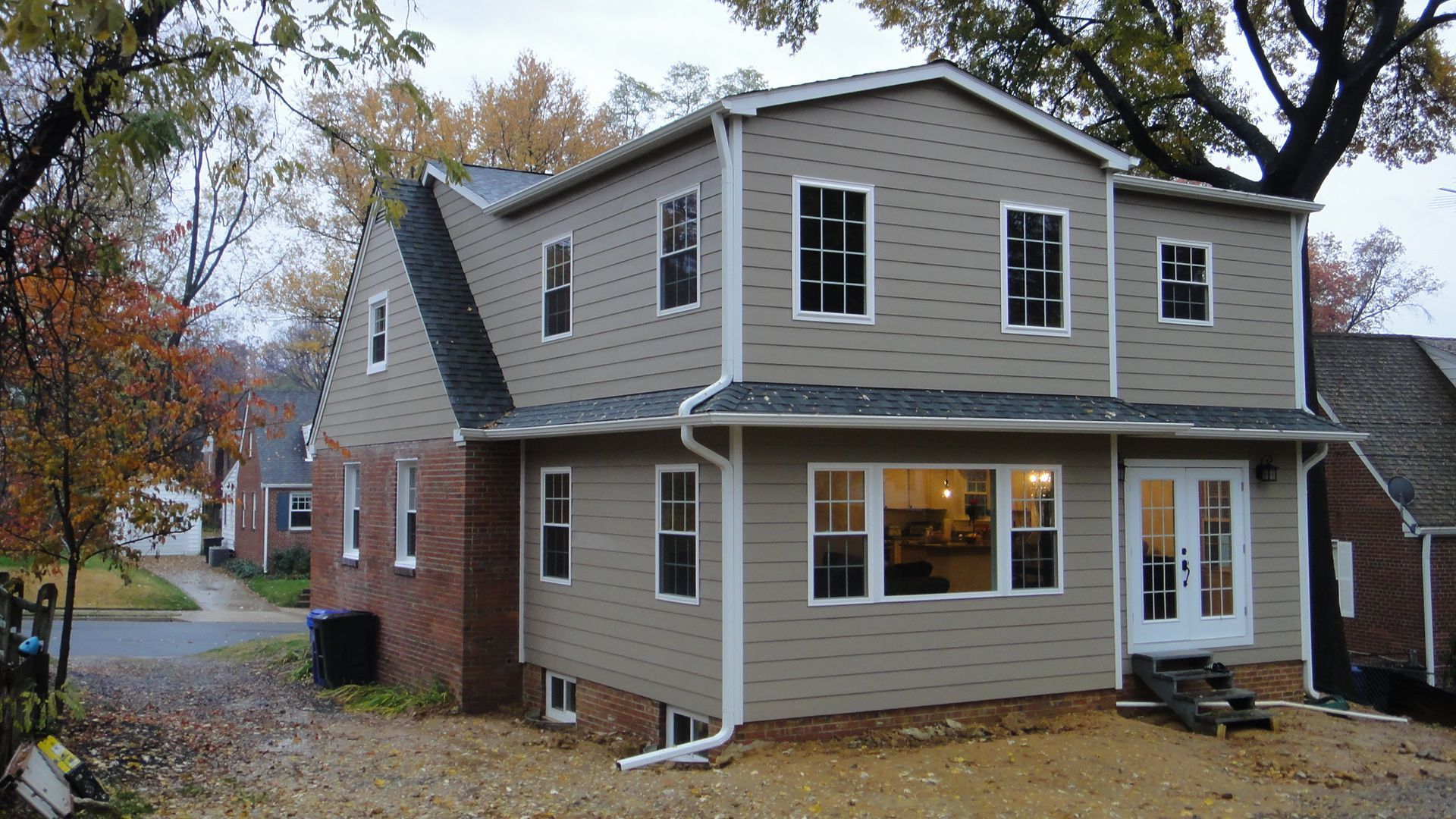 Cape Cod Rear Addition Cook Bros 1 Design Build Remodeling Contractor In Arlington Virginia Cape Cod Style House Cape Cod House Exterior Cape Style Homes