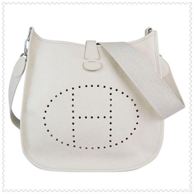 Hermes white handbag... in love