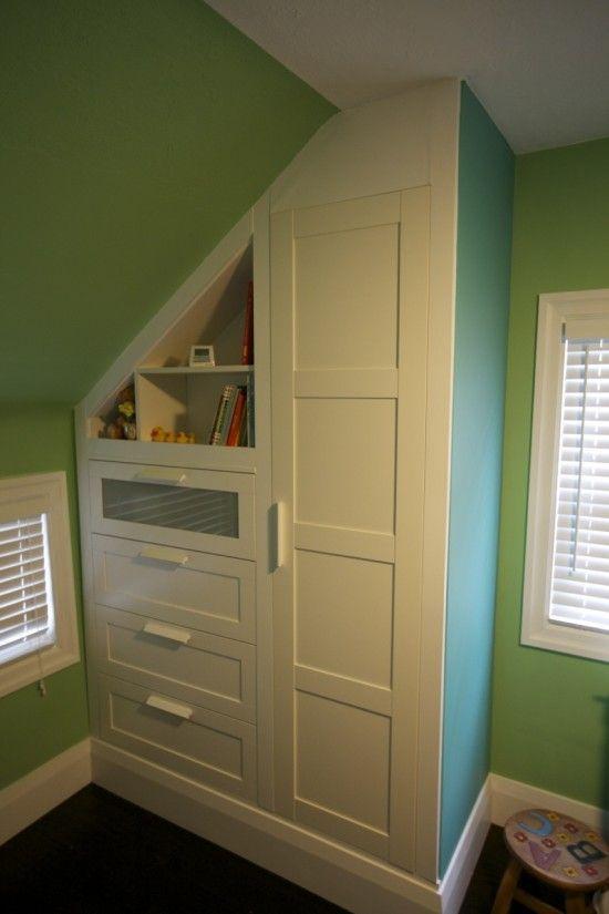 bildergebnis f r schrank dachschr ge selber machen pinterest kinderzimmer schrank und m bel. Black Bedroom Furniture Sets. Home Design Ideas