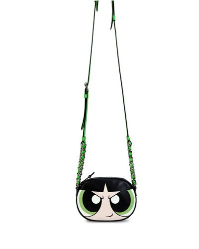 423c76d169 V2WLA Moschino Powerpuff Girl Leather Shoulder Bag, Green/Multi ...