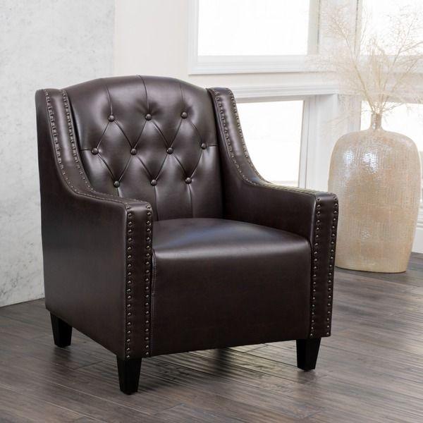 Gabriel Tufted Leather Club Chair By Christopher Knight Home By Christopher  Knight Home