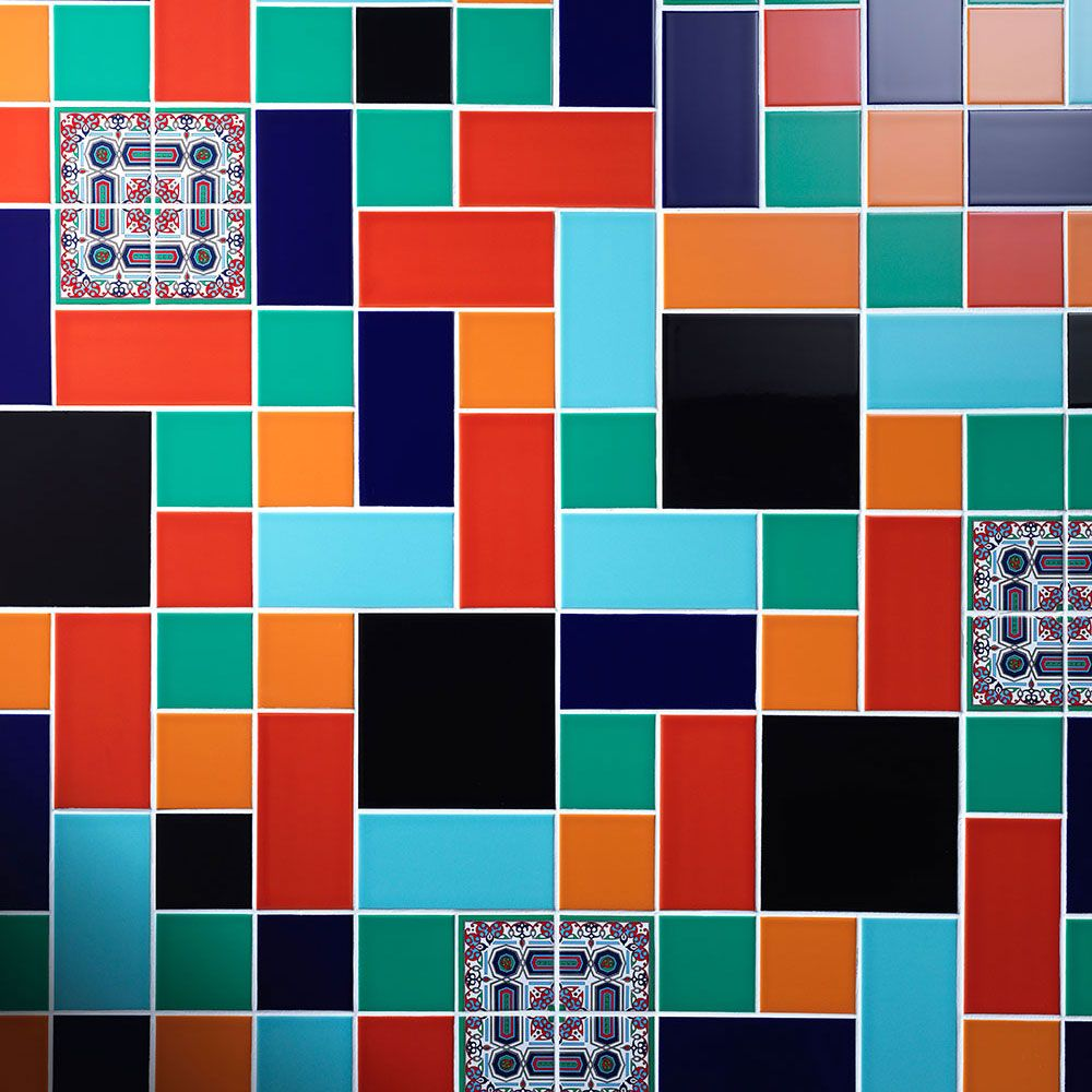 Jewel Tone Prismatic Tiles A Collection Of Ceramic Wall