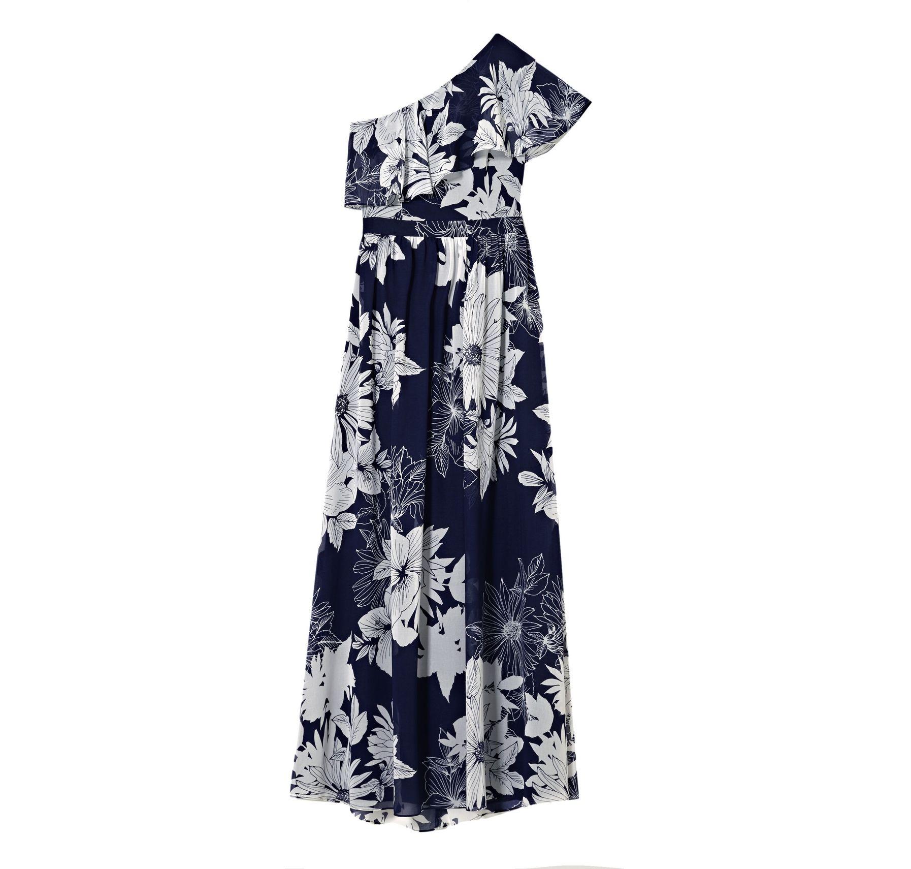 Vince Camuto One-shoulder Floral-print Maxi Dress - Vince Camuto
