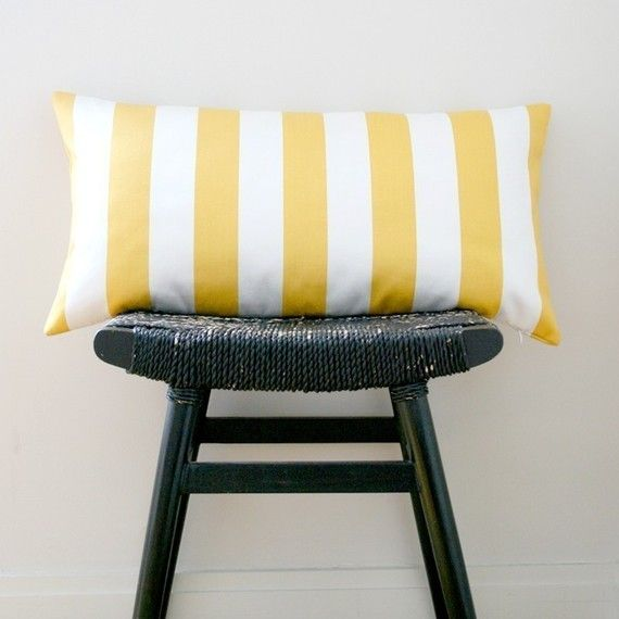 Cheery Striped Pillow It Reminds Me Of Candy Yellow Pillows Cotton Pillow Pillows