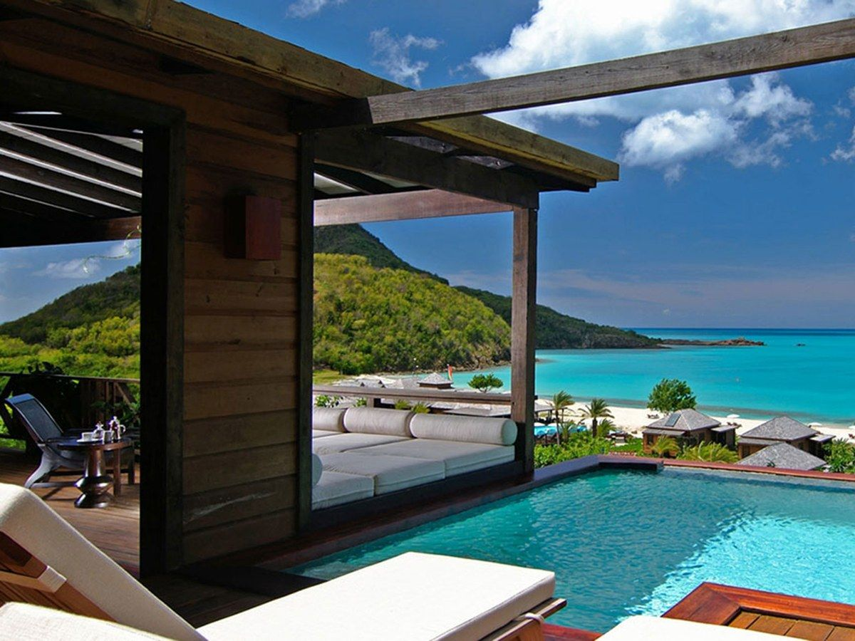 Best Caribbean Resorts With Private Plunge Pools Conde Nast Traveler Hermitage Bay Places To Go Vacation Places
