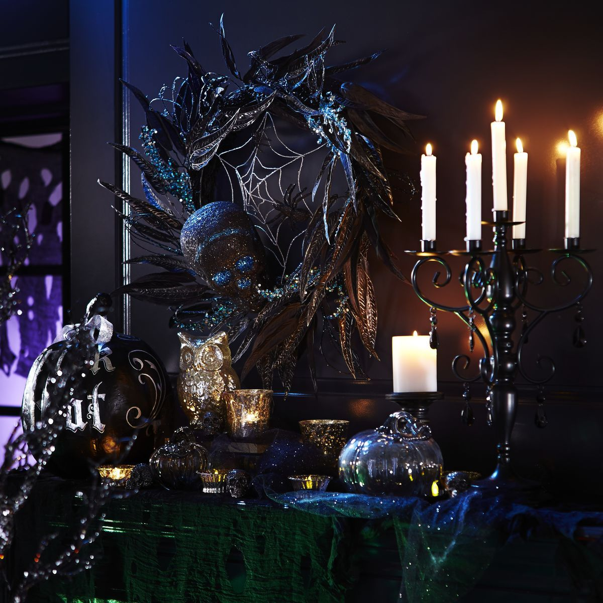 explore halloween boo halloween wreaths and more haunted elegance wreath pier 1 imports - Pier One Halloween