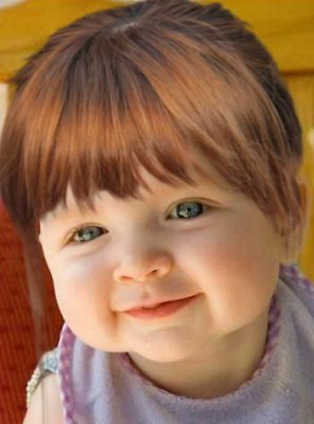how to cut toddler girl bangs