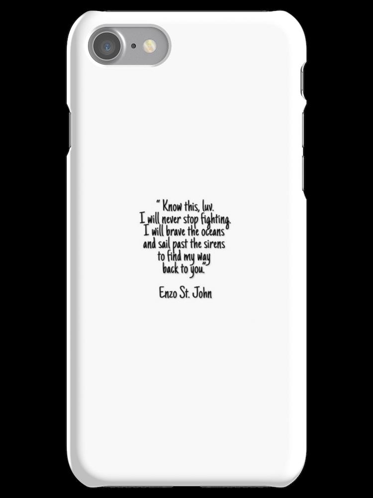 The Vampire Diaries Enzo Quote Iphone 7 Snap Case Vampire