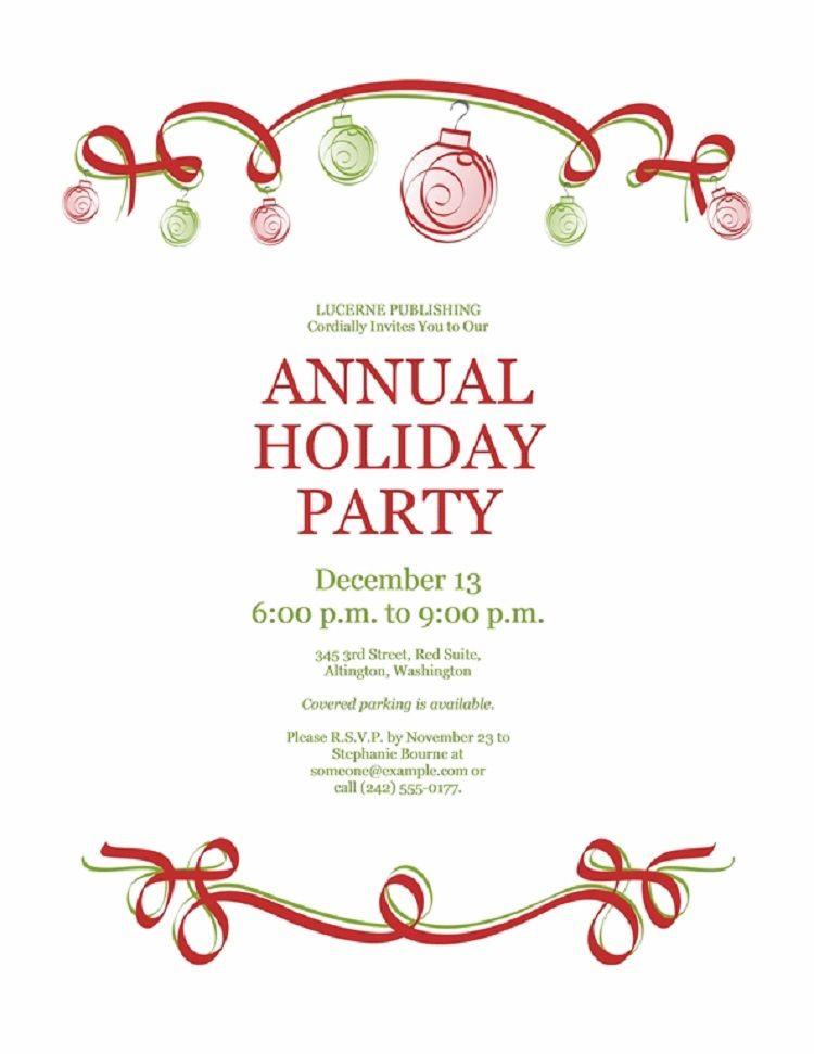 holiday party invitations templates Invitation Ideas in 2018