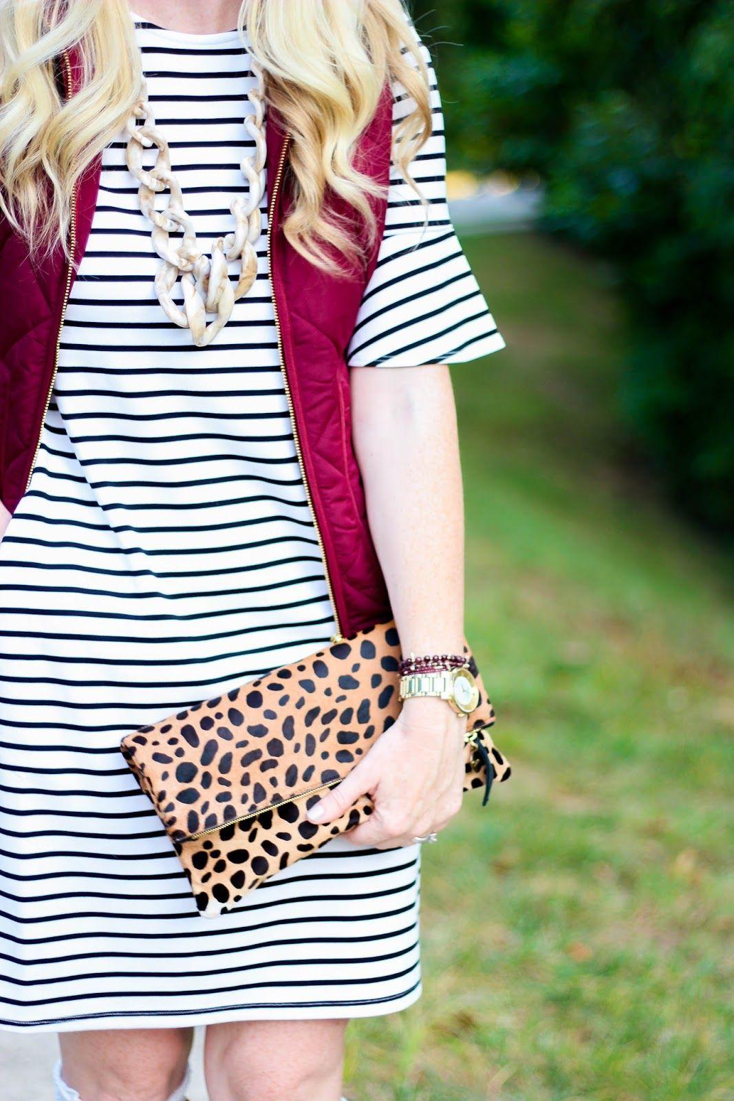 White stripe diana bell sleeve dress