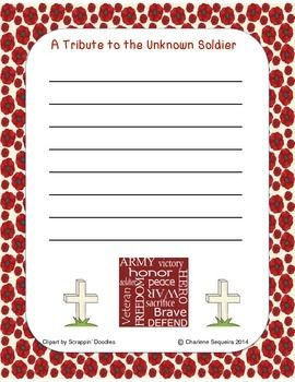 letter tribute to the unknown soldier vets pinterest