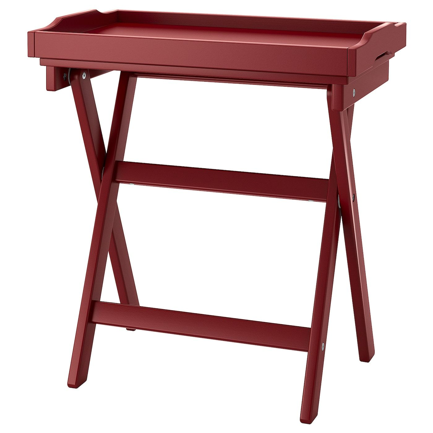 Maryd Tray Table Dark Red 22 7 8x15x22 7 8 In 2020