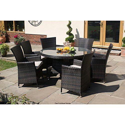 furniture milan rattan garden furniture 6 seater