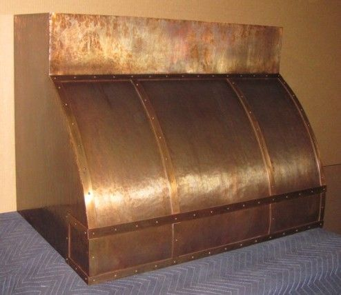 Handcrafted Copper Range Hood Custom Made to Order USA Discounts for
