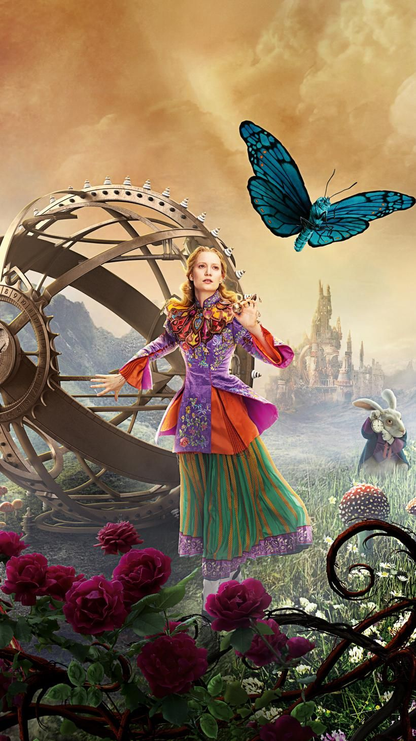 Alice Through The Looking Glass 2016 Phone Wallpaper