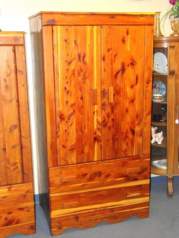Genuine Kincaid Solid CEDAR Armoire Wardrobe Closet With Double Doors And  Drawer   Full Length