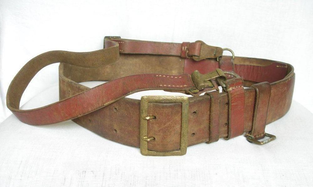 WW2 OFFICER S LEATHER BELT FOR WALTHER OR LUGER HOLSTER Cinturones 3694ee3ce204