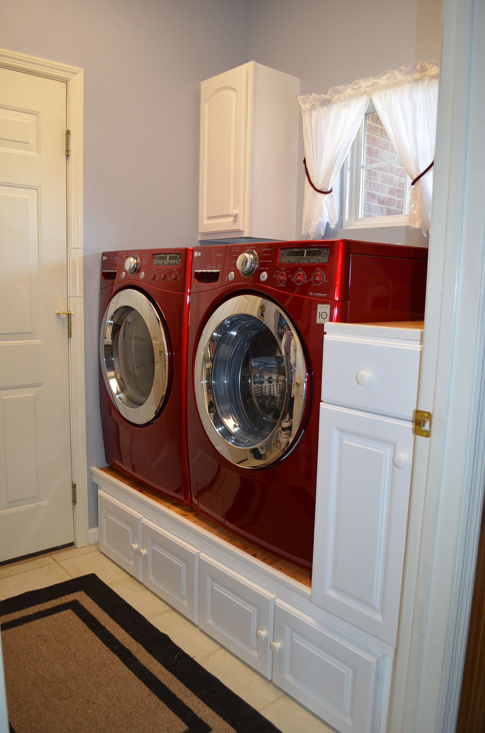 "Whole laundry is only 58"" in length The cabinets are repurposed"