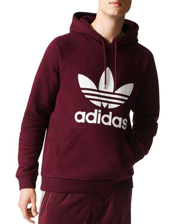 Adidas Originals Trefoil Hooded Sweatshirt Mens Designer Hoodies Adidas Hoodie Mens Adidas Trefoil Hoodie