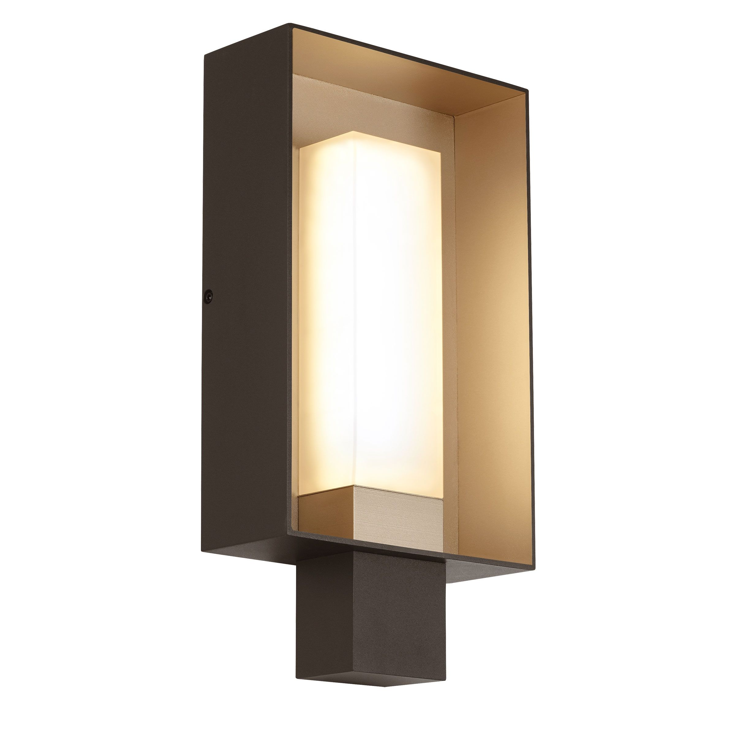 The Refuge Square Led Outdoor Wall Light Exudes Clean Contemporary Styling While Projecting A W Outdoor Wall Sconce Led Outdoor Wall Lights Large Wall Lighting