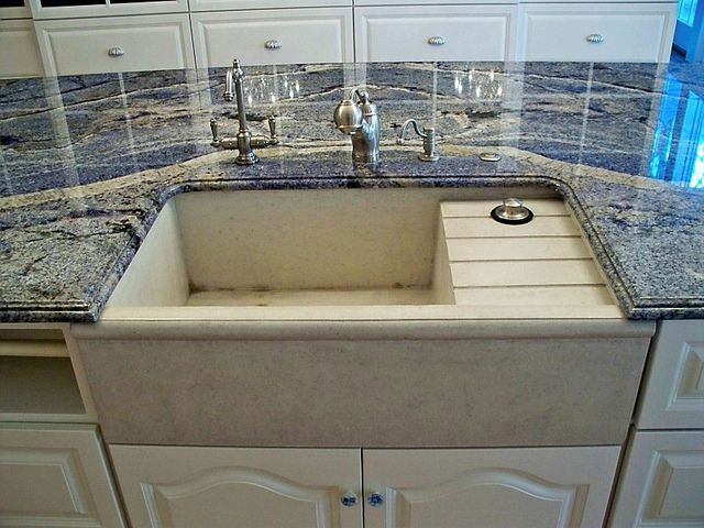 concrete farm sink, farm sink with integrated drainboard | Concrete ...