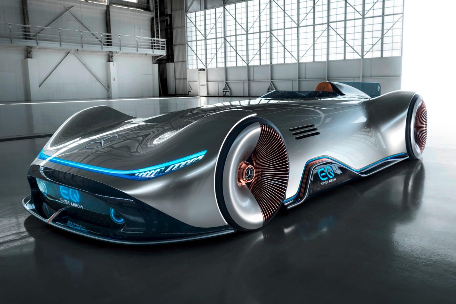 Mercedes Vision Eq Silver Arrow Is A Stunning 750 Hp Electric Speedster Future Concept Cars Mercedes Maybach Benz