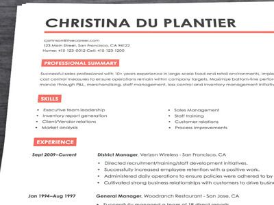 Live Career | Resume builder, Free resume builder and Sample resume