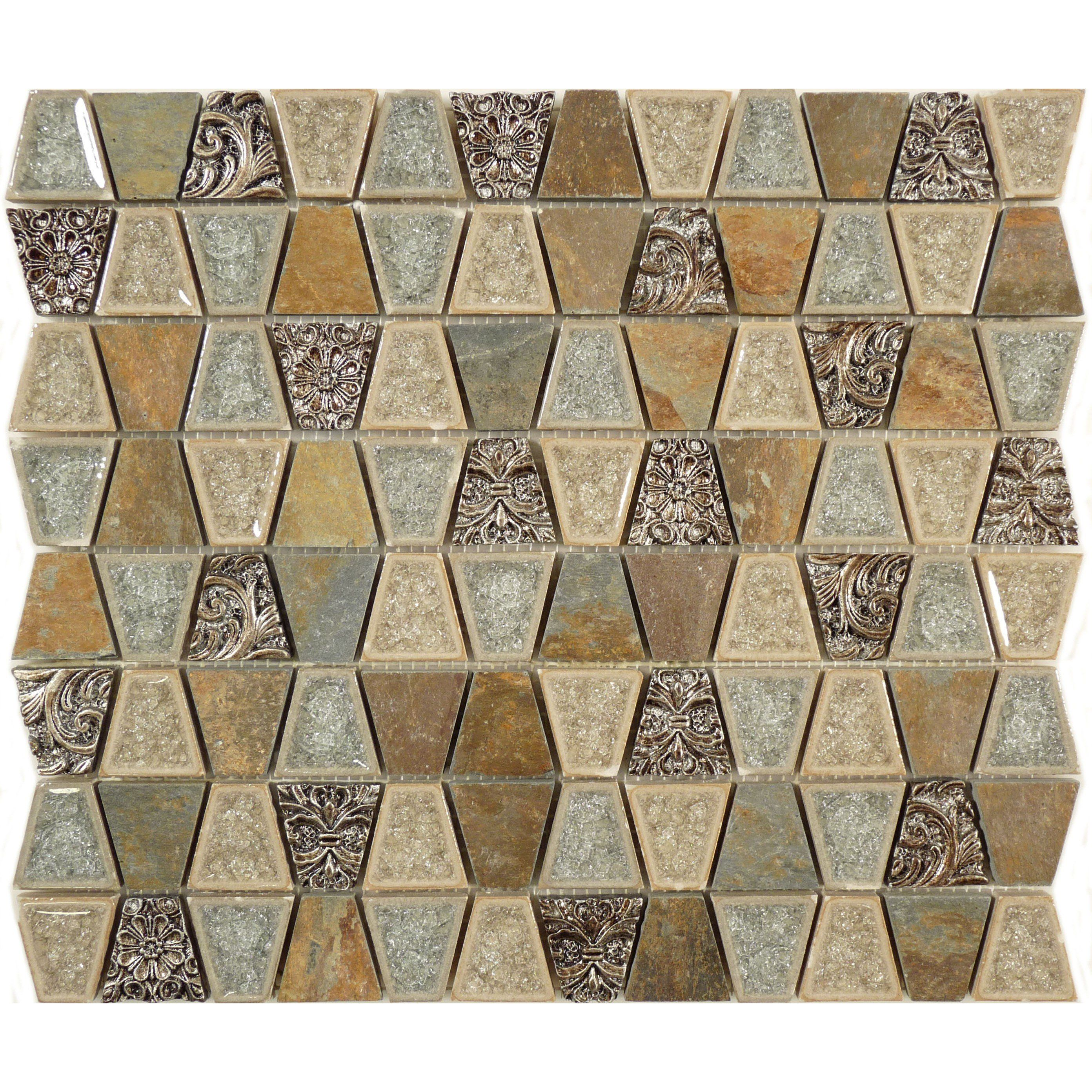 Sheet Size 10 5 X2f 8 Quot X 12 1 X2f 4 Quot Tile Size 1 1 X2f 8 Quot X 1 1 X2f 4 Quot Tiles Per S Grey Glass Trapezoid Slate Tile