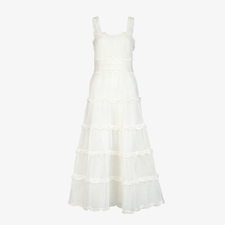 White Silk Dress Dress Fendi Fendi Online Store Fendi Dress Dresses Designer Outfits Woman [ 1500 x 1500 Pixel ]