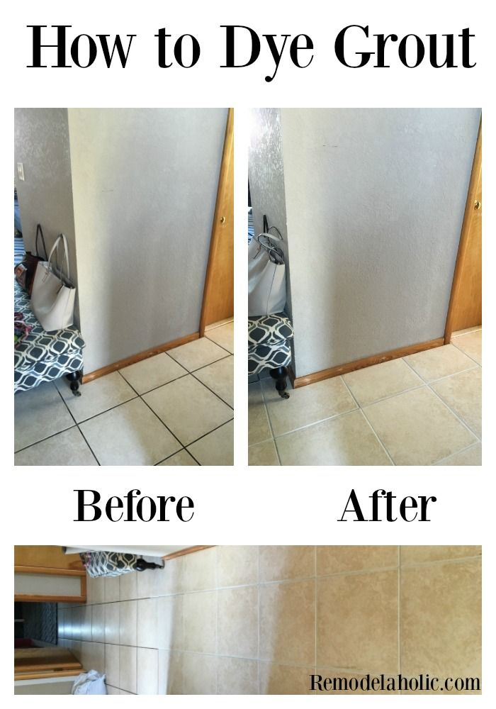 How To Dye Grout And Refresh A Dated Tile Floor Flooring Tile Floor Floor Tile Grout