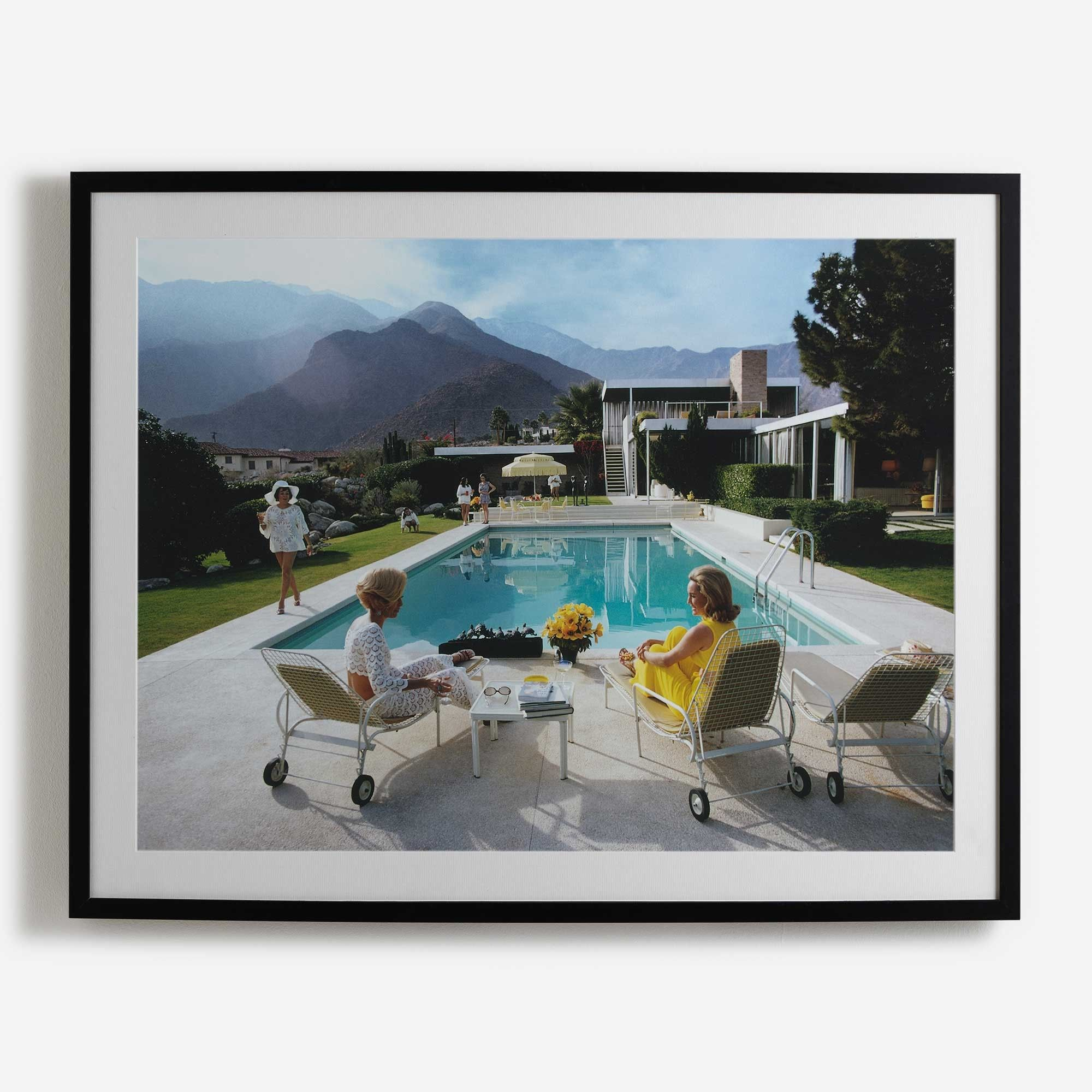 Poolside Gossip Framed Print   i love retro   Prints & Frames ...