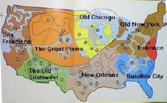 Freedomland layout (1960 to 1964)