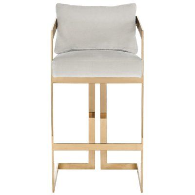 "Mercer41 Ulverston 29.9"" Bar Stool Seat Color: Almond"