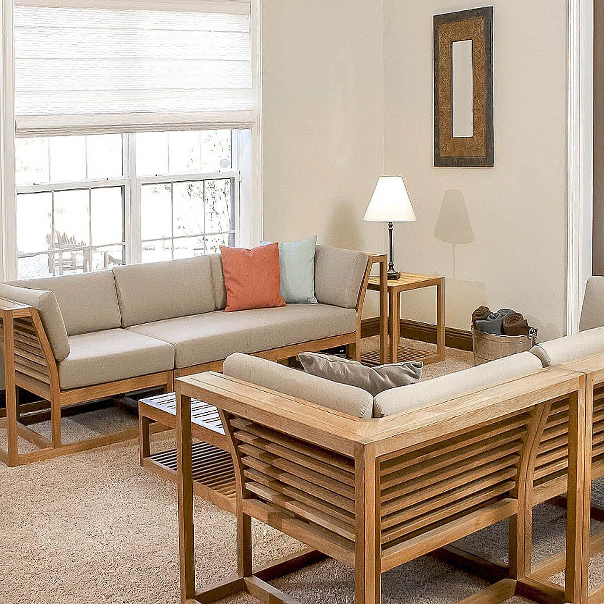 Teak Double Sectional Sofa Furniture