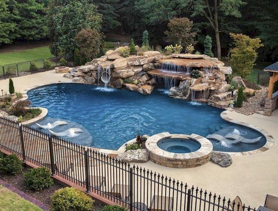 99 Comfy Backyard Designs Ideas With Swimming Pool Looks Cool Luxury Pools Backyard Luxury Pools Mansions Dream Pools