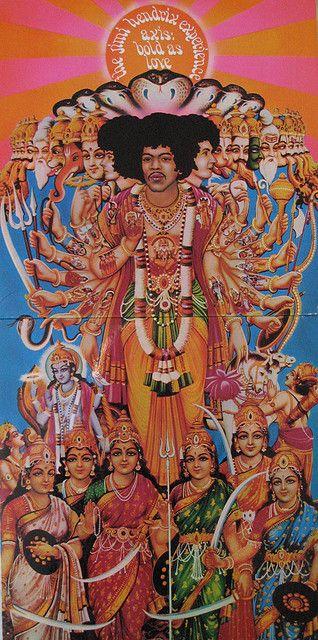 Hendrix Axis Bold As Love Jimi Hendrix Art Album Cover Art Jimi Hendrix Poster