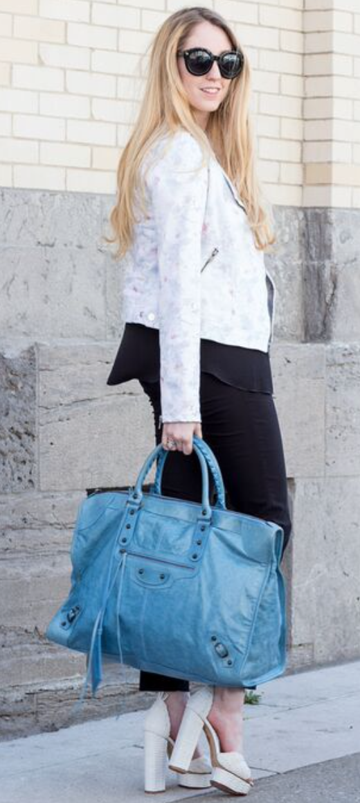 f8d6013fa6c Blue Balenciaga Weekend Bag - Beautiful Pre-Owned bag in excellent  condition.