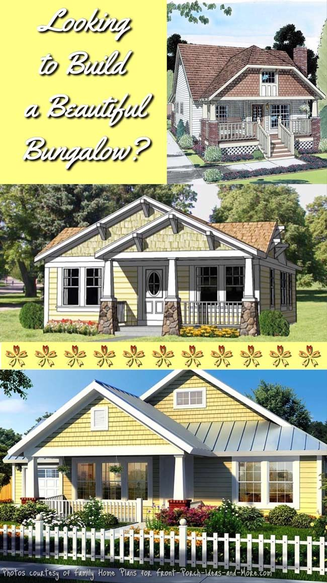 Bungalow floor plans usually include everything on