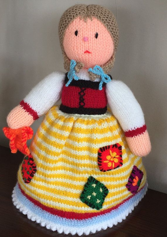 Beautiful Hand Knitted Cinderella Topsy Turvy Doll All Proceeds To